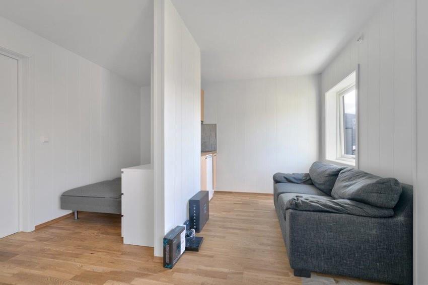 Sovealkove og stue/kjøkken