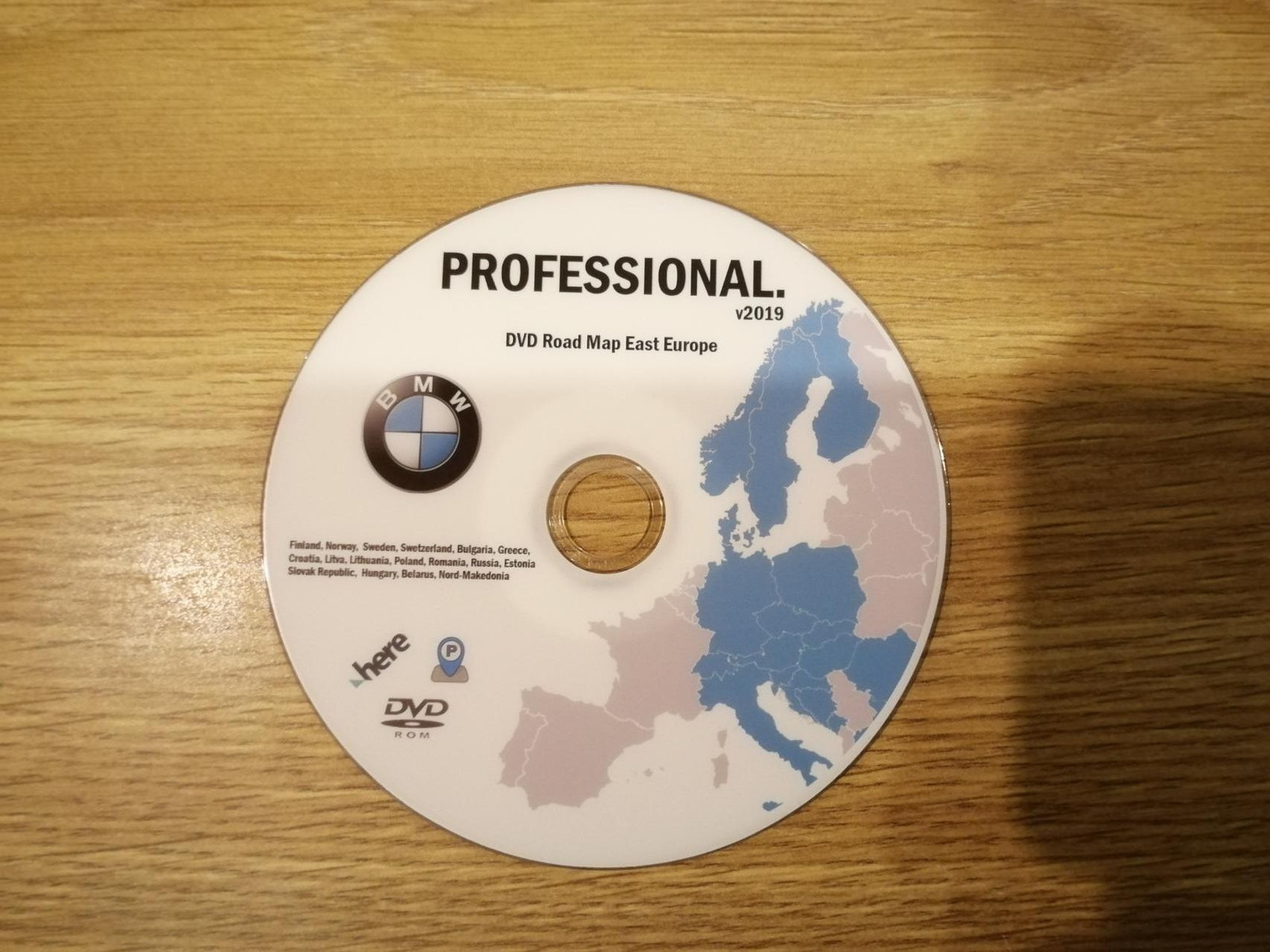 Bmw Update Professional 2019 Road Map East Europe Dvd Oppdatering