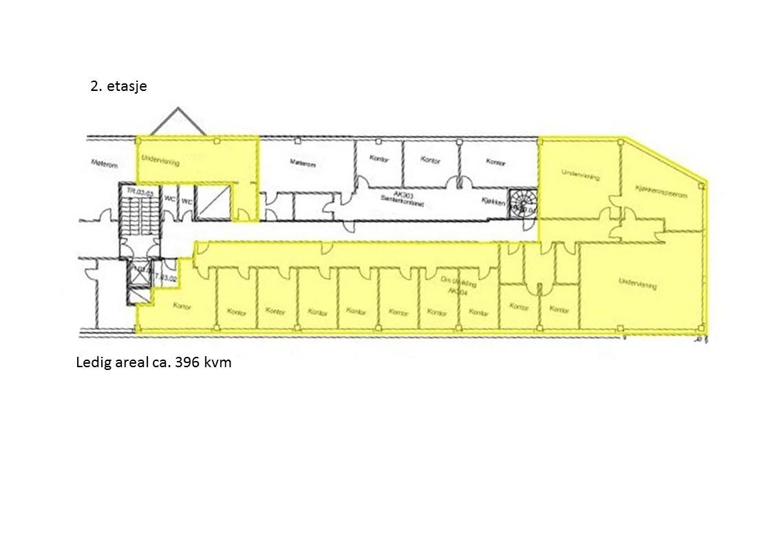 Planskisse 2 etasje - 396 kvm