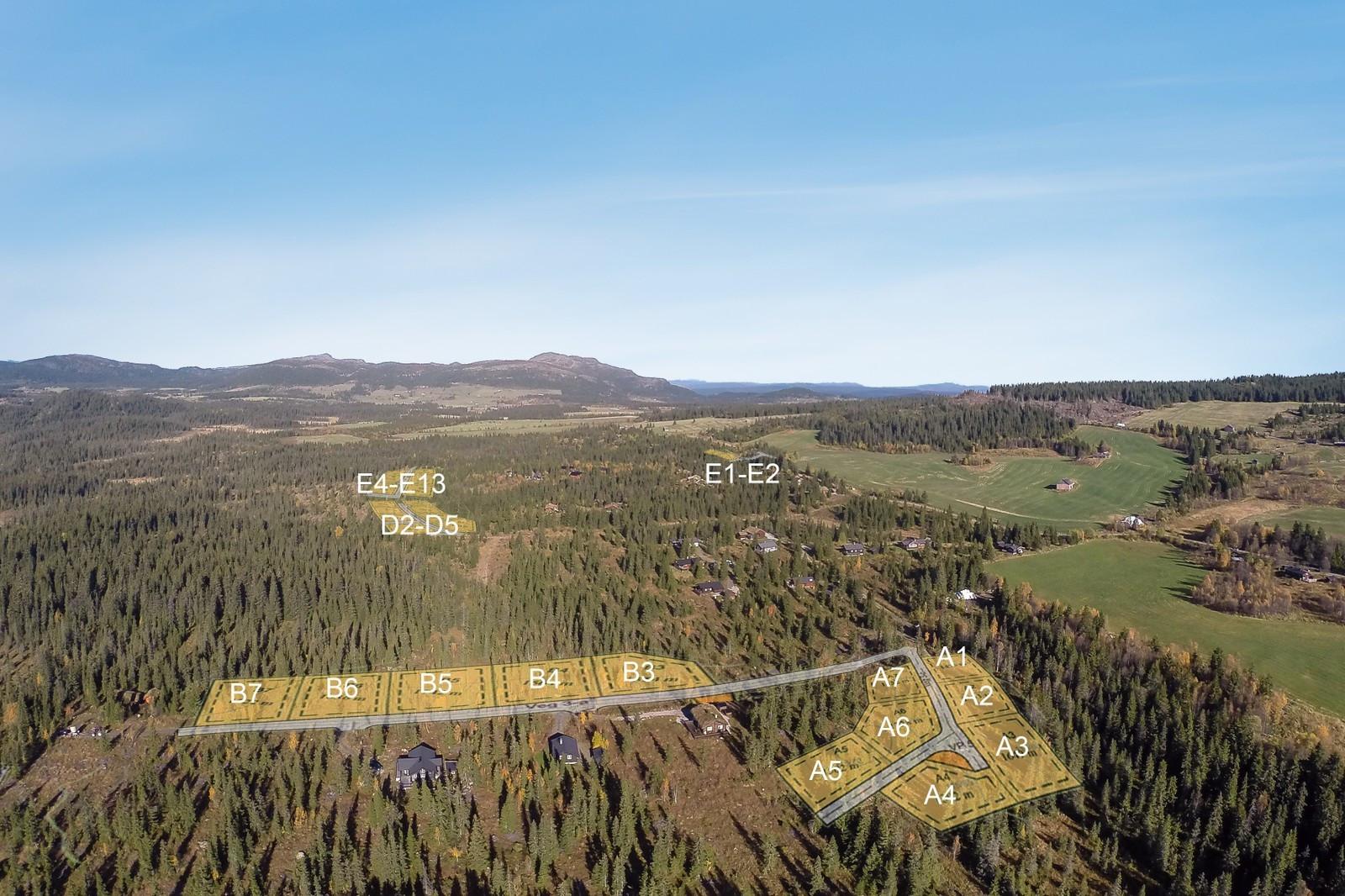 Dette vakre landskapet tilhører Nordre Vesleseter og her kan Buen Beitostølen bygges av nye kunder.