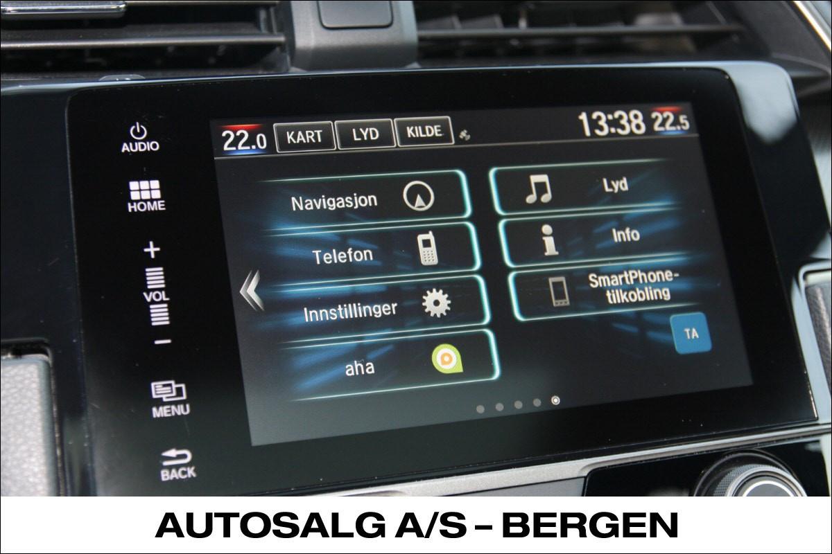 Honda CONNECT GARMIN navi/ 7''Touch-skjerm, DAB+,Apple Carplay/Android Auto,Internett Radio, Aha app