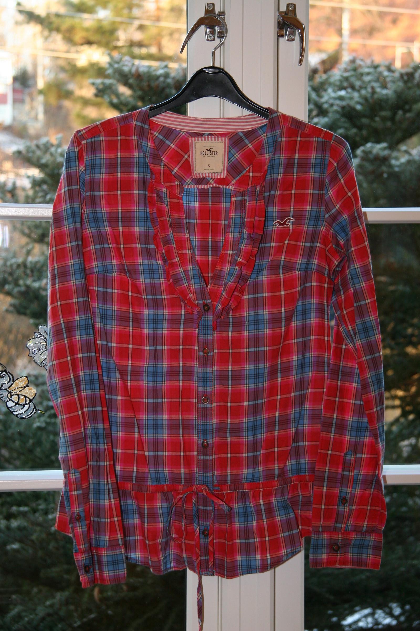 Stilig rutete Hollister bluse skjorte størrelse S som