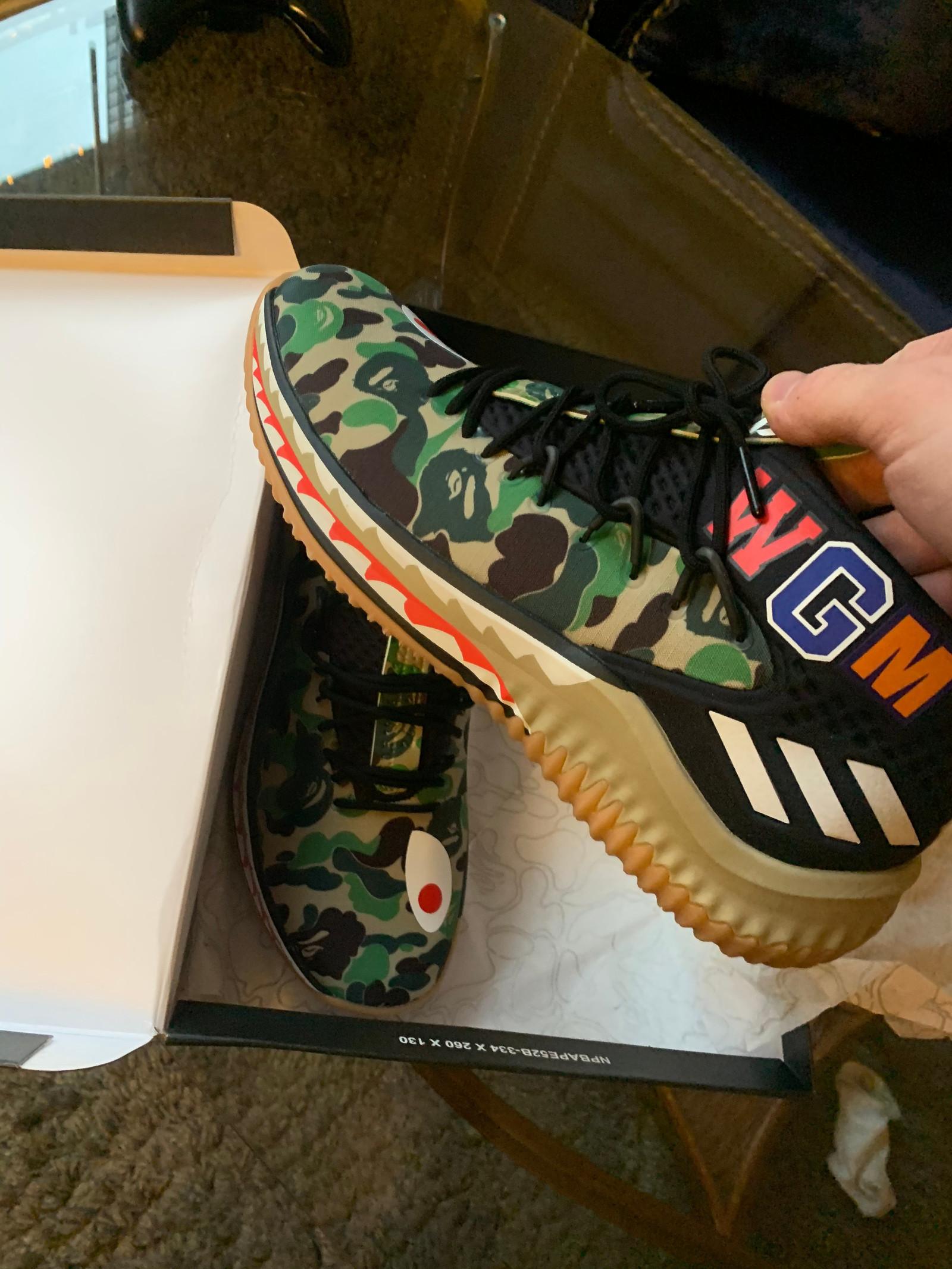 Bape X Adidas dame 4 basketsko EU 45 DSWT   FINN.no