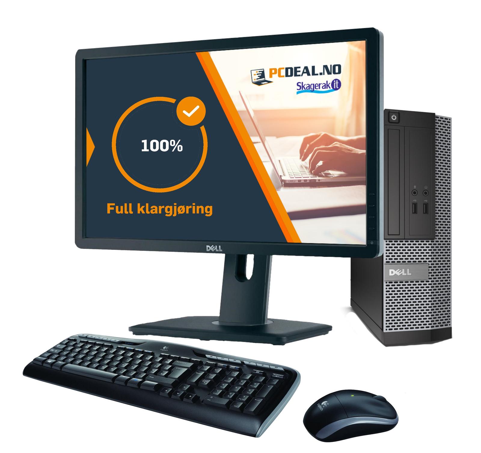 Kontor Pakke med PC, skjerm, mus og tastatur klar til bruk