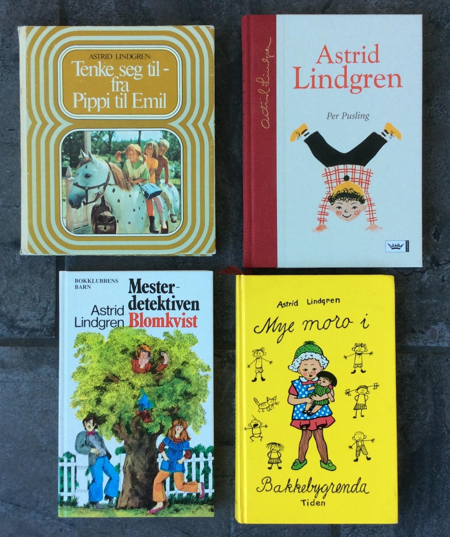 d9fc0a82 ASTRID LINDGREN-4 flotte bøker«Per Pusling» «Mye moro i ...