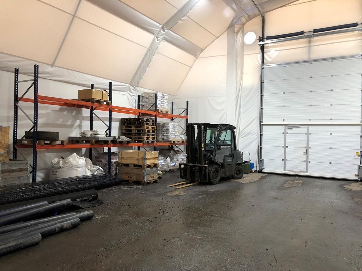 Lager i plasthall - 50 kvm