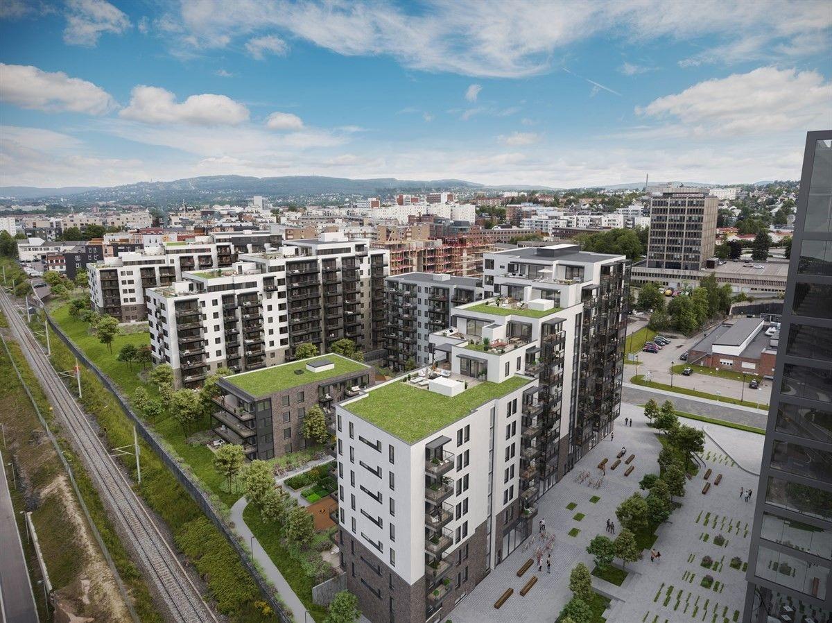 Velkommen til Lørenporten! Dette er salg av en kontraktsposisjon for leilighet nr. 72 i bygg C5 i prosjektet Lørenporten. Illustrasjonsbilde lånt av Selvaag Bolig.