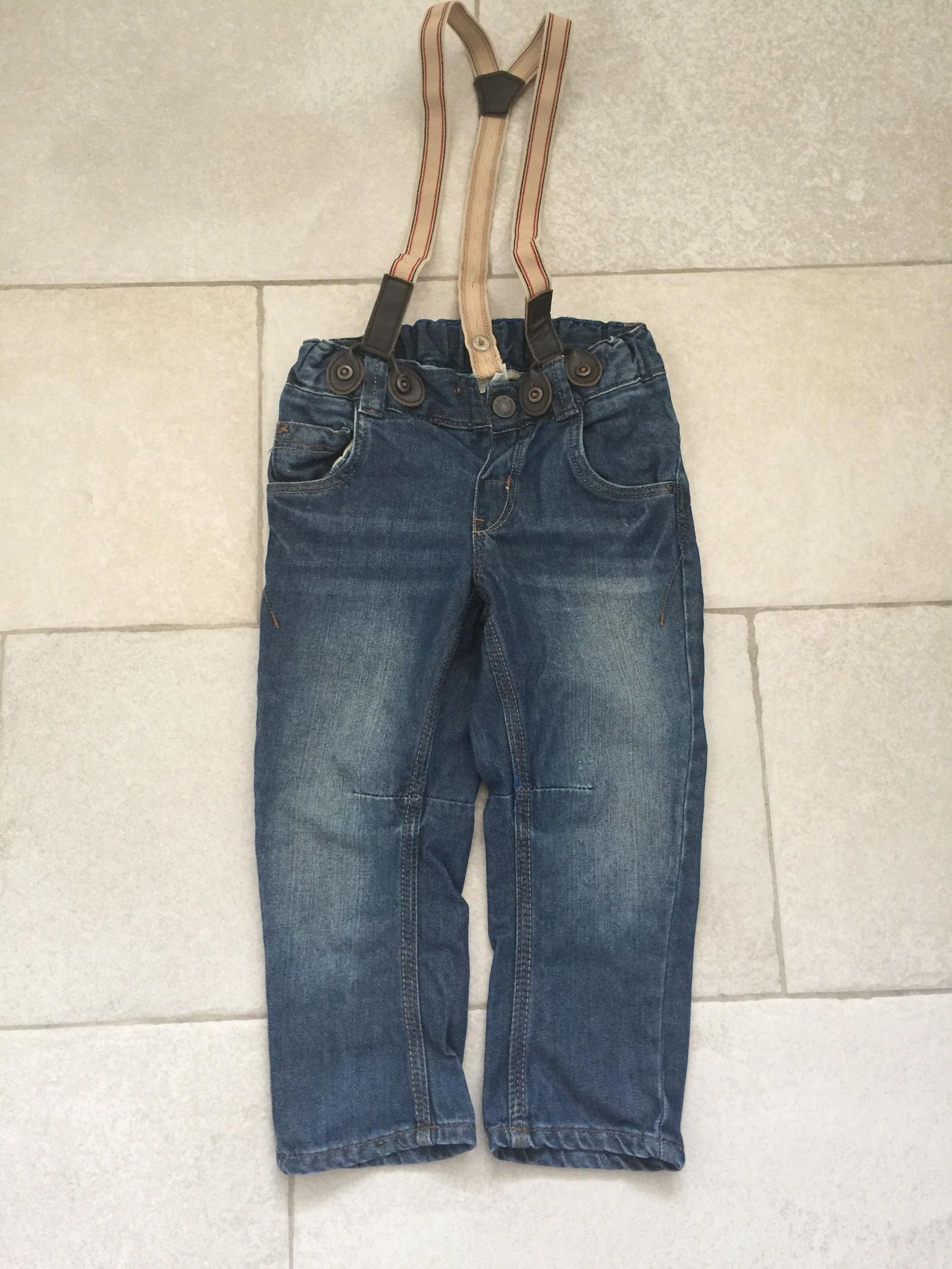 c0e3a696 Ubrukt H&M jeans med seler i str.92 | FINN.no