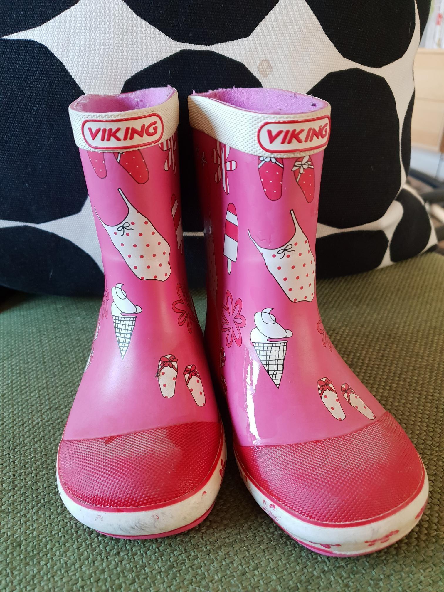 ce52d20b3f6 Rosa viking gummistøvler i str 23 | FINN.no