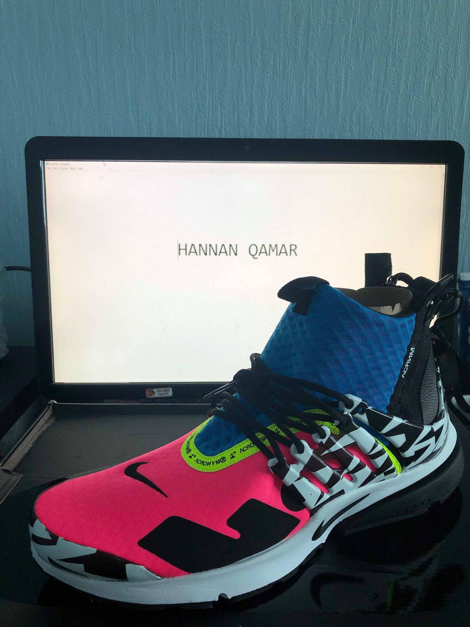 Acronym x Nike Air Presto Mid 'Racer PinkBlue' : Sneakers