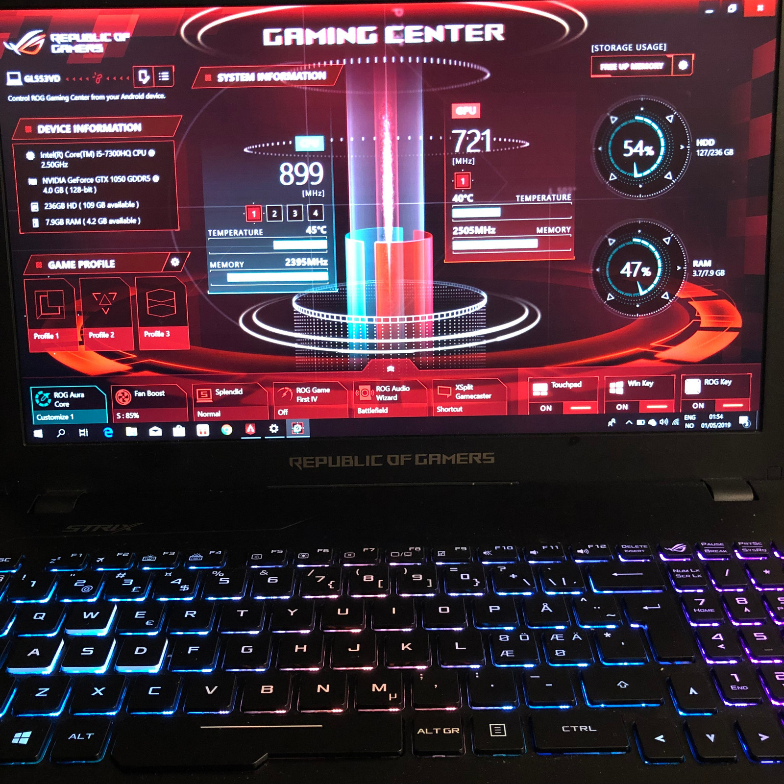 Asus Rog Gaming Center Not Working