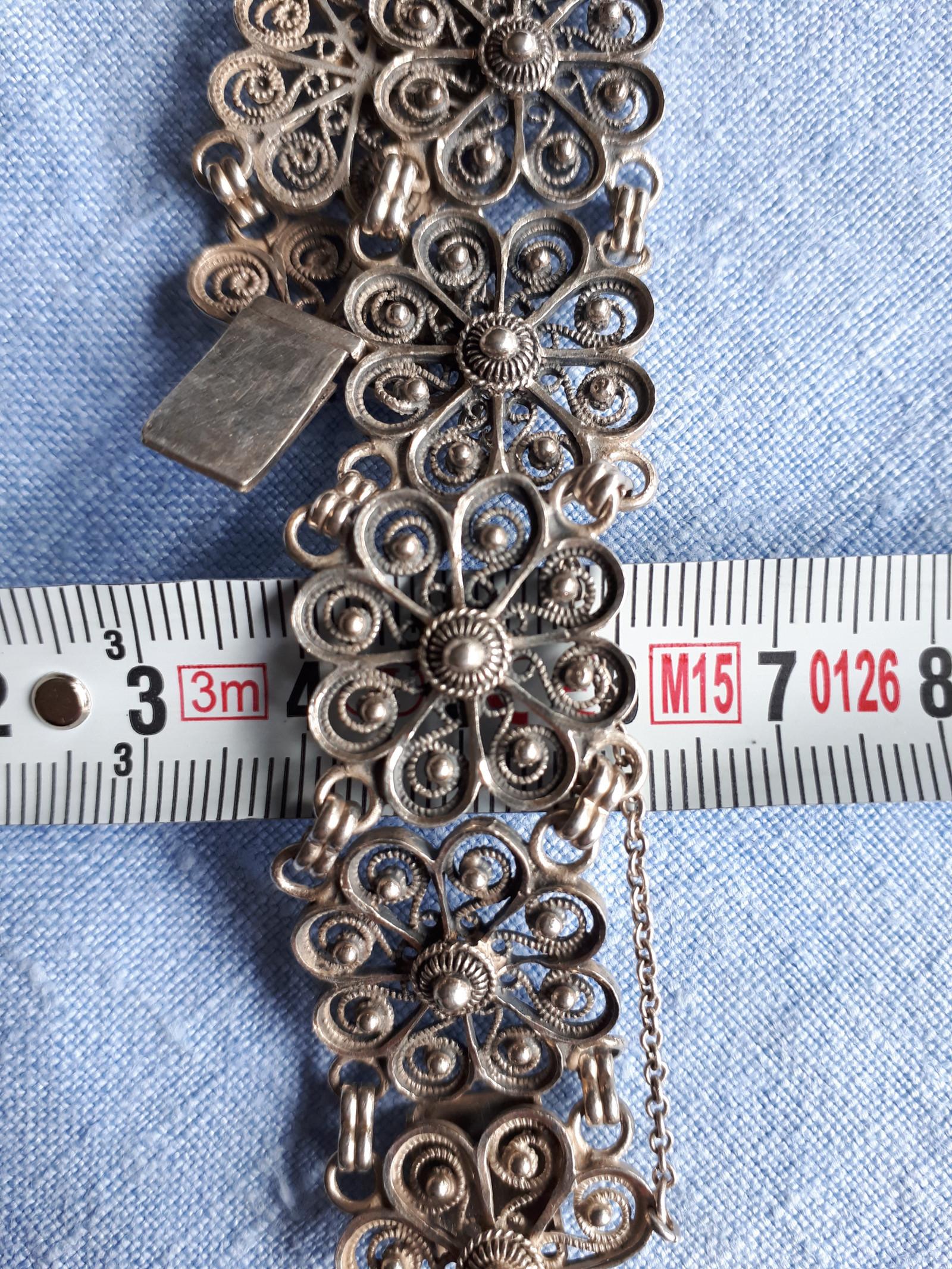 ebf8ef8d Bunadssølv, armbånd i filigran 925 sølv, sølvarmbånd, bunadsarmbånd ...