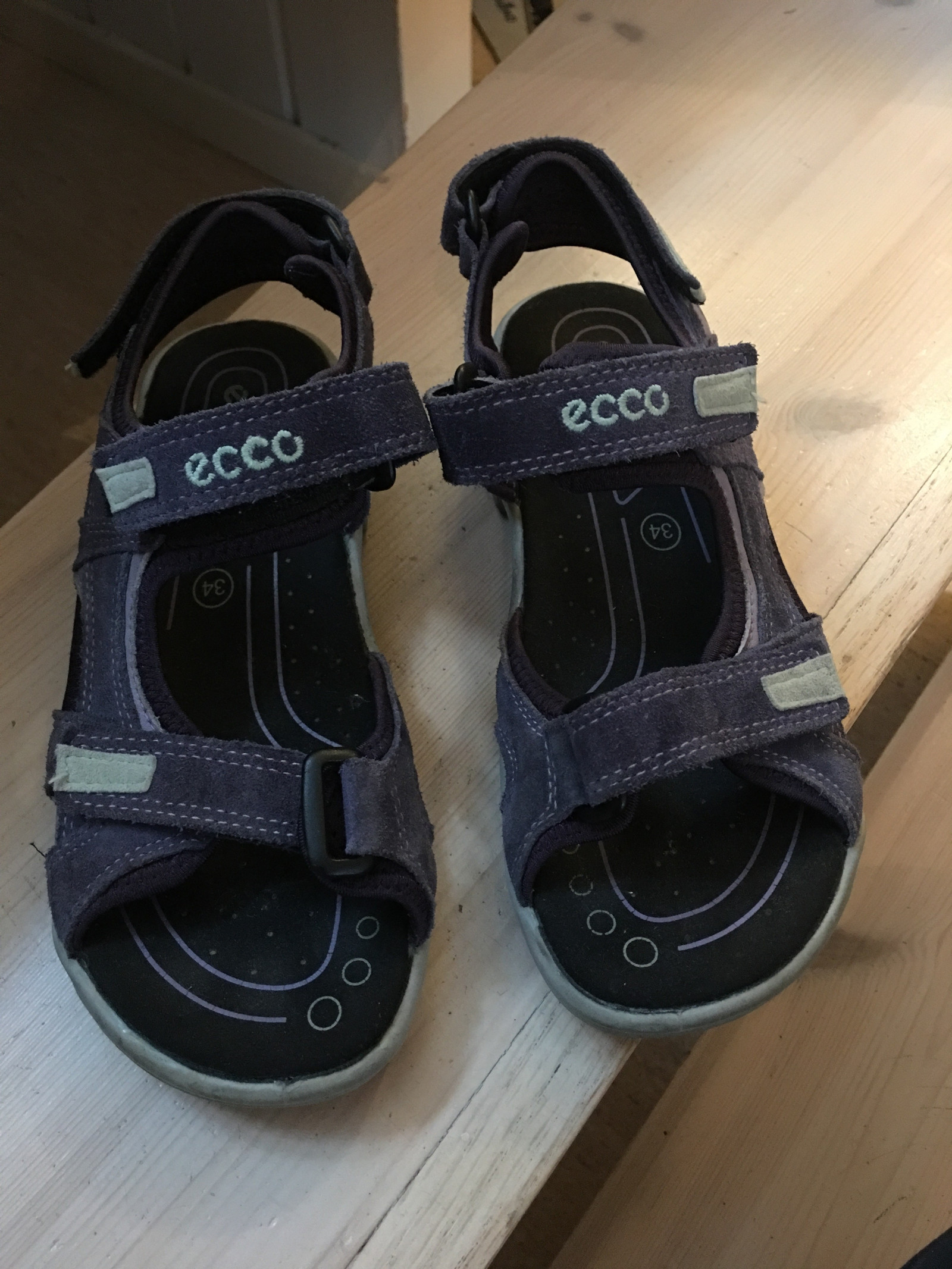 9703f3e0b58 Ecco sandaler i str 34   FINN.no