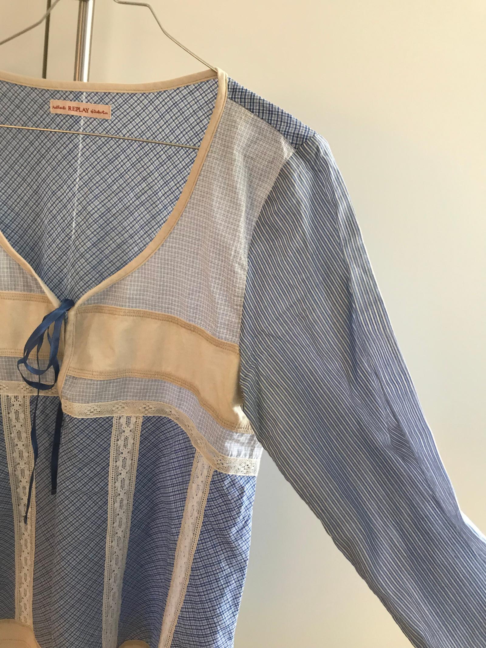 95855134 Smårutete bluse fra Replay - ny pris 1999 - brukt to ganger - medium ...