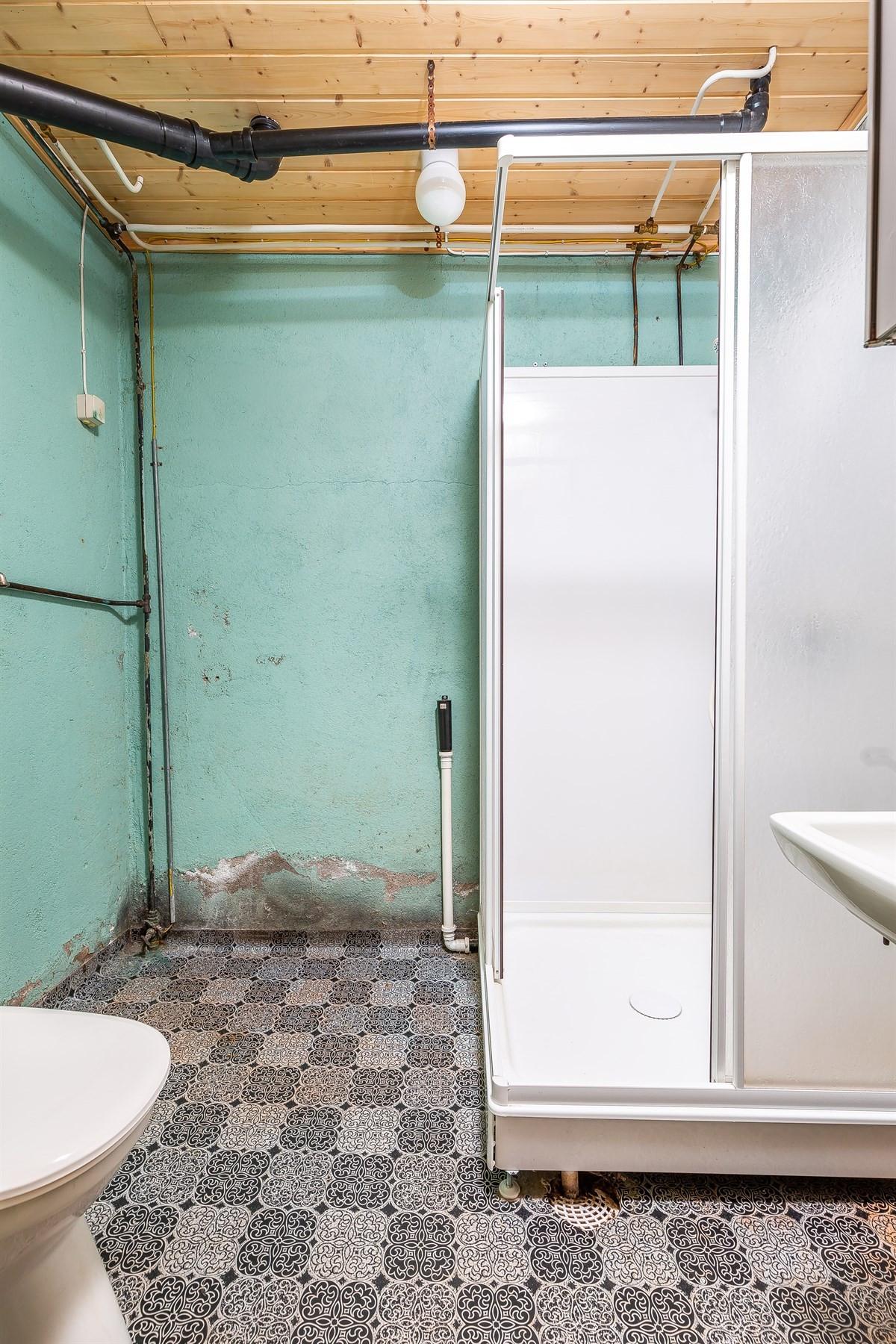 Her er det plass til vask/tørk