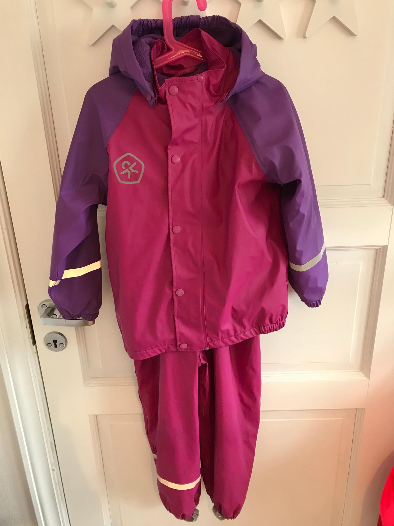 ea3f3121 Color Kids regnsett med fleece for str 110 | FINN.no