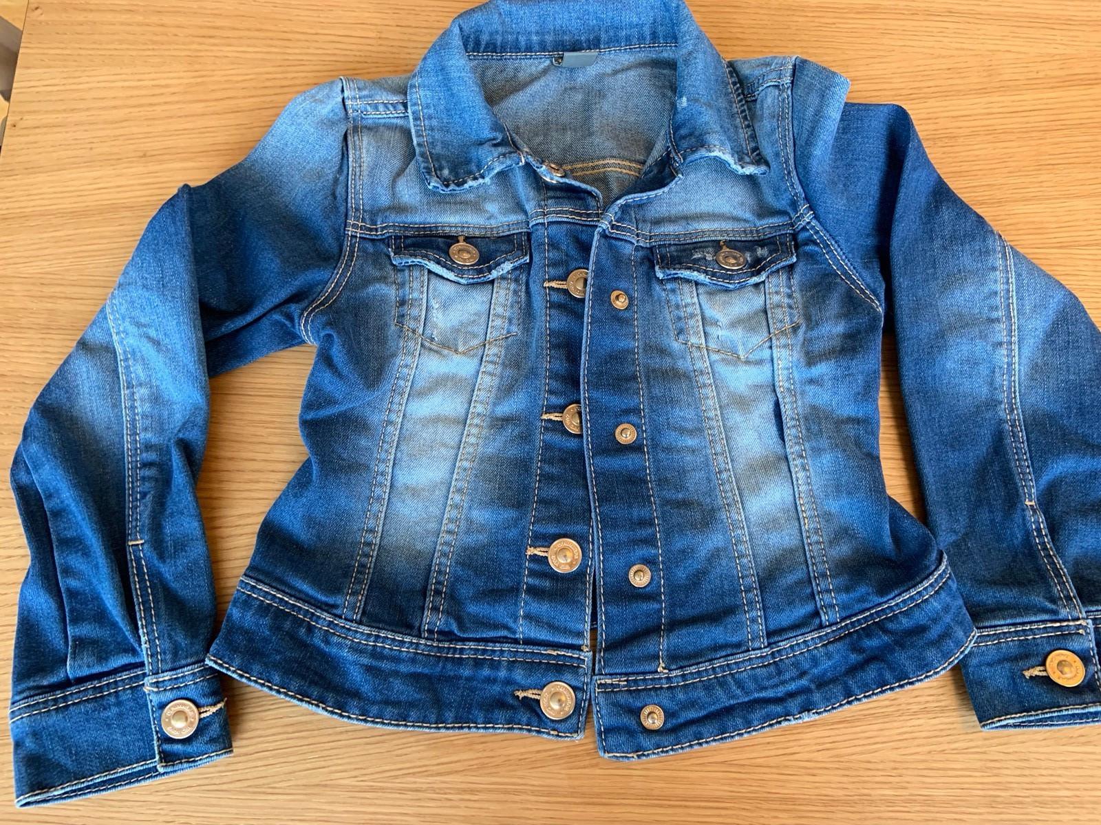 Denim jakke + sommer kjole, jente, ZARA, NY, str. 104 116