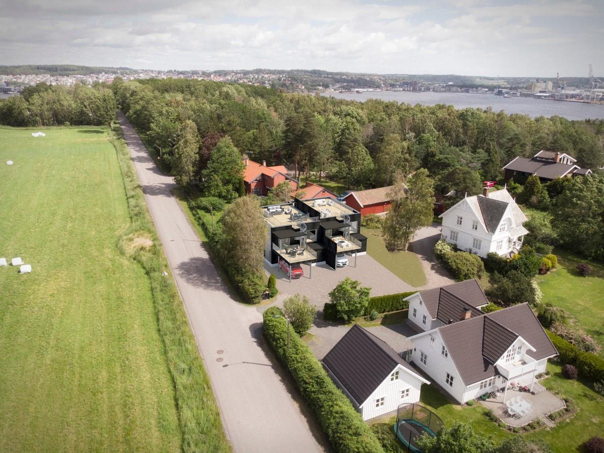 Tomannsbolig - larvik - 4 980 000 til 5 200 000,- - Leinæs & Partners