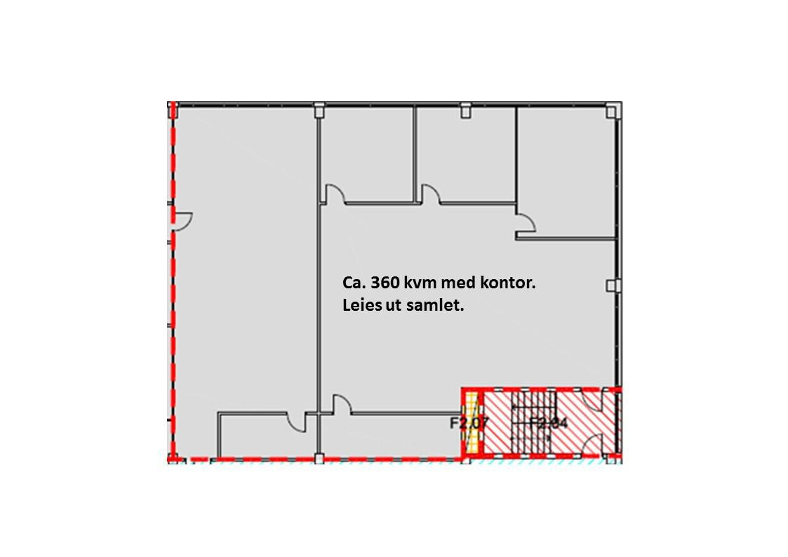 Plankisse 2. etasje - kontor