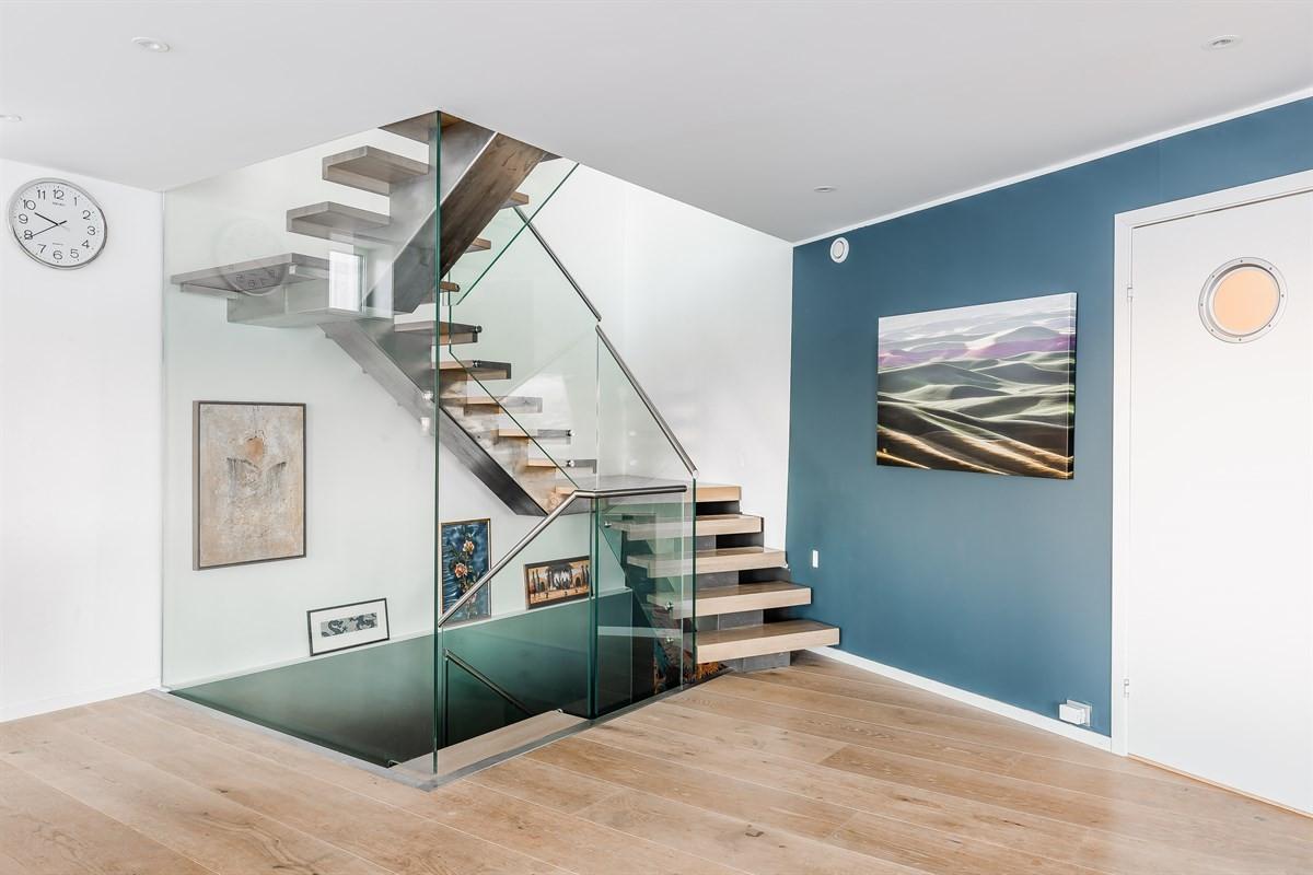 Moderne og stilfull trappeløsning