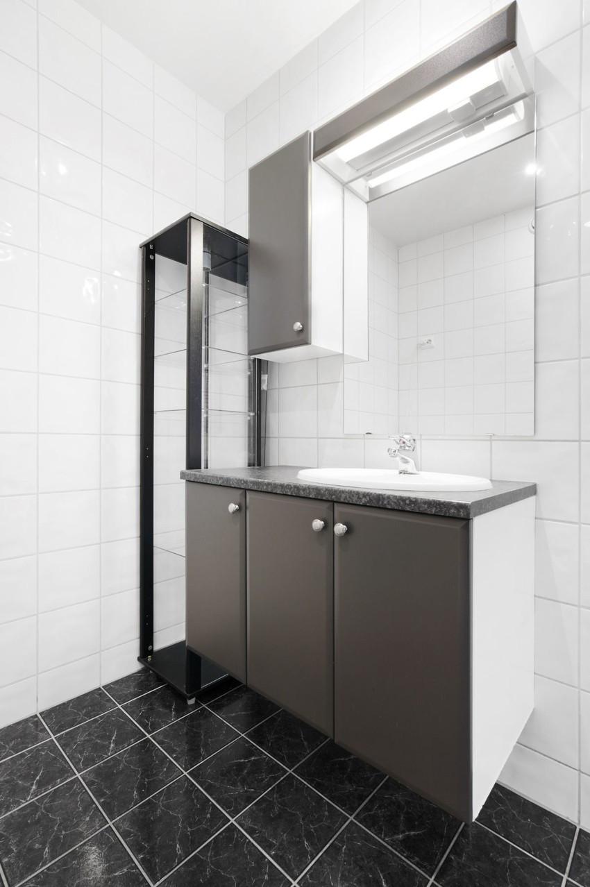 Gode oppbevaringsmuligheter i baderomsinnredning