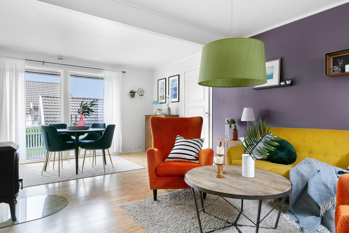 Koselig sofakrok i stue