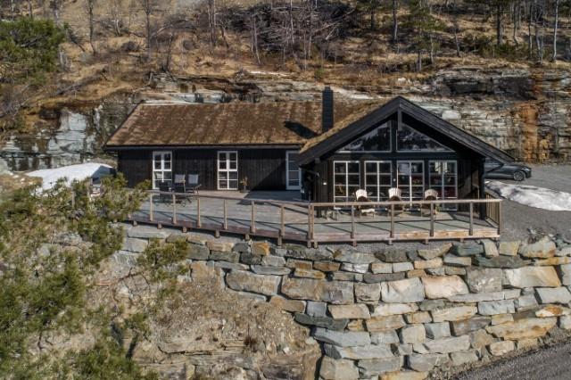 Bilde av en Beitostølen hytte variant L med kundetilpasninger og tilvalg