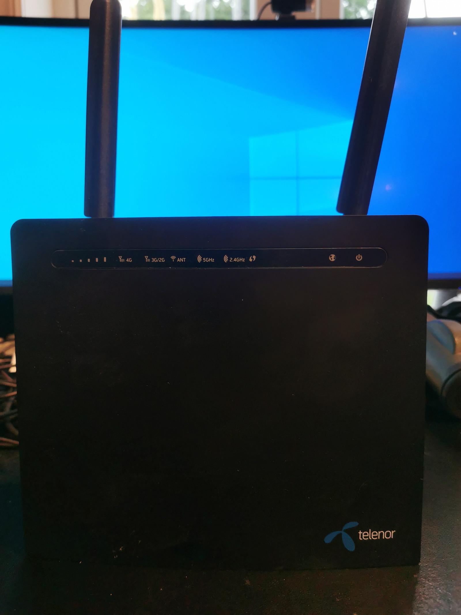 4G Router (D-Link Telenor) - Ypperlig til båt, bobil, hytte