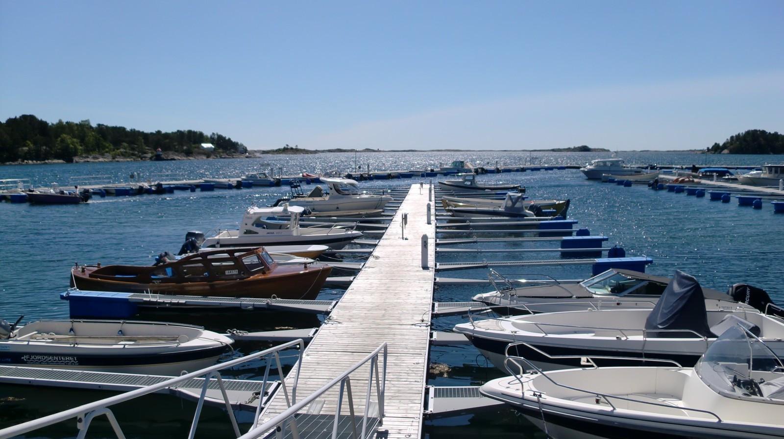 Båthavna rett i nærheten