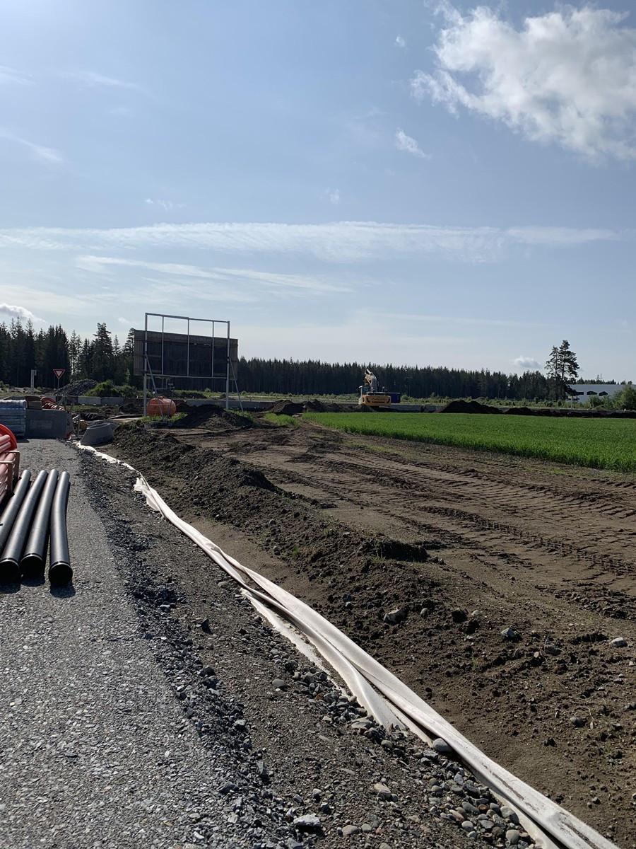 Gardermoen Vest Næringspark - Infrastruktur opparbeides