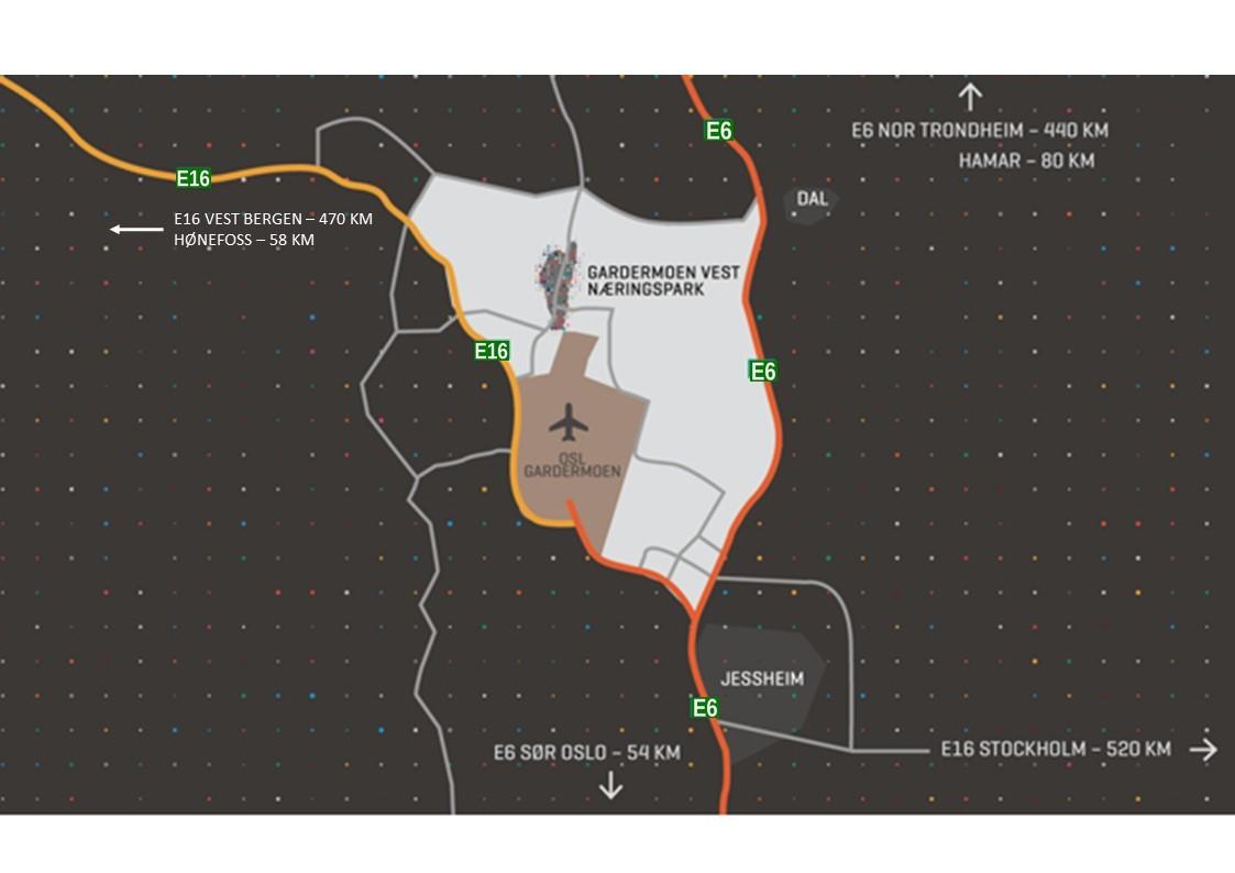 GVN - Kort vei til hovedveinettet E6, E16 og OSL