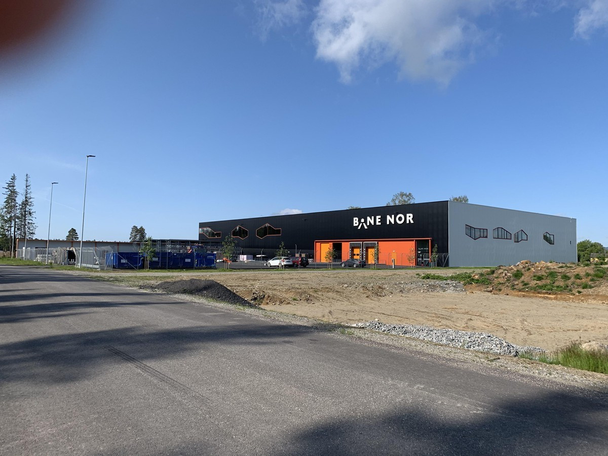 Bane Nor sitt nye bygg i Gardermoen Vest Næringspark