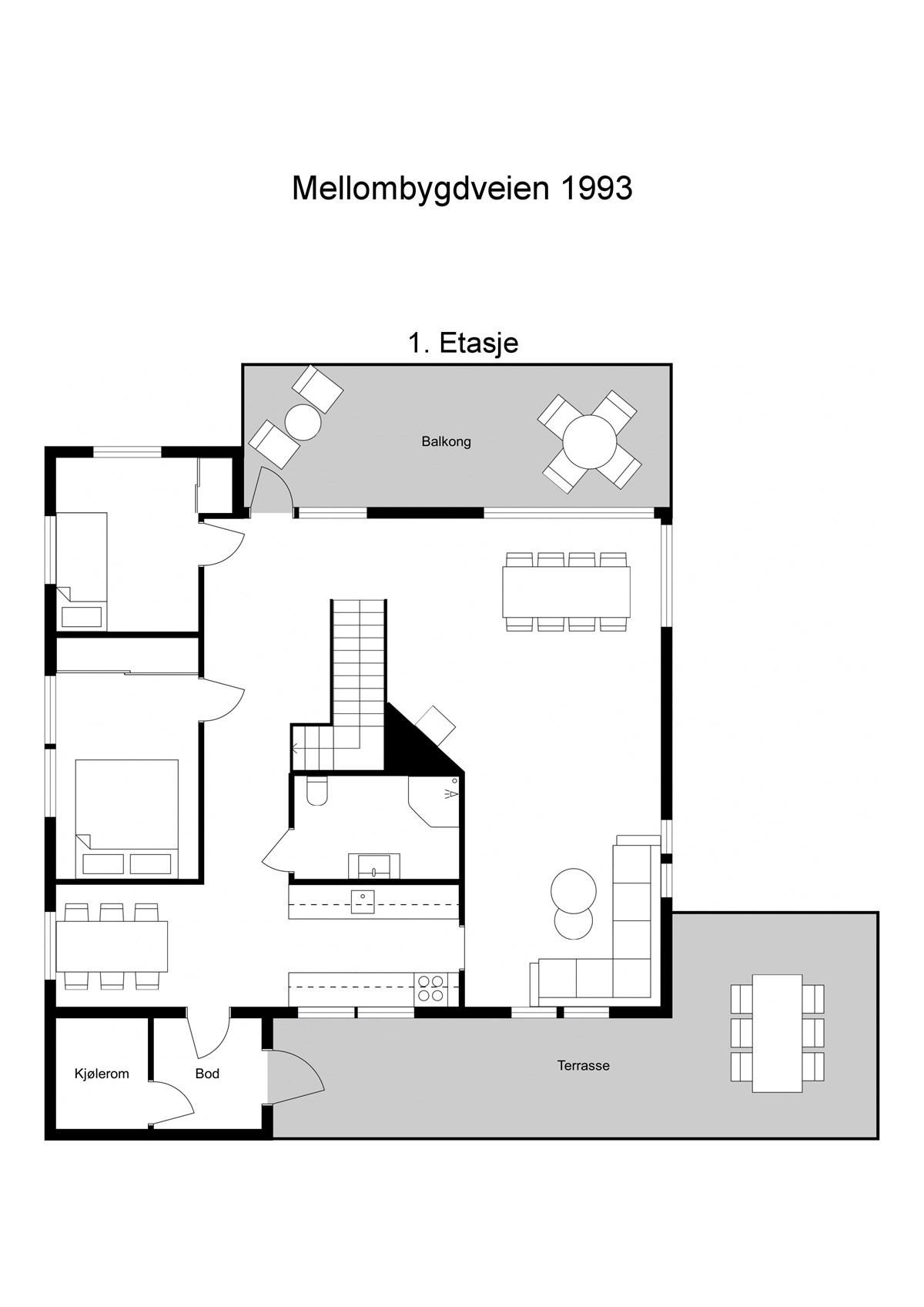 Planskisse 1 etasje