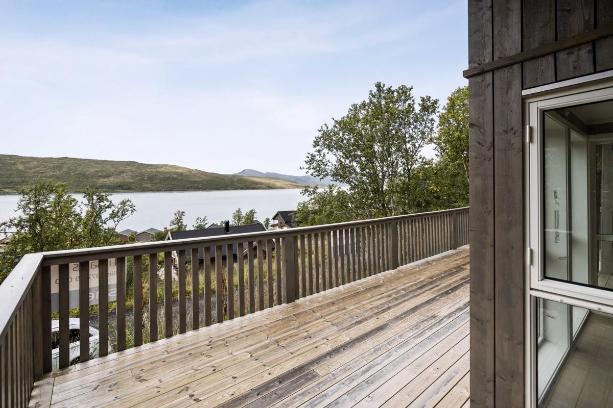 Flott utsikt fra terrasse
