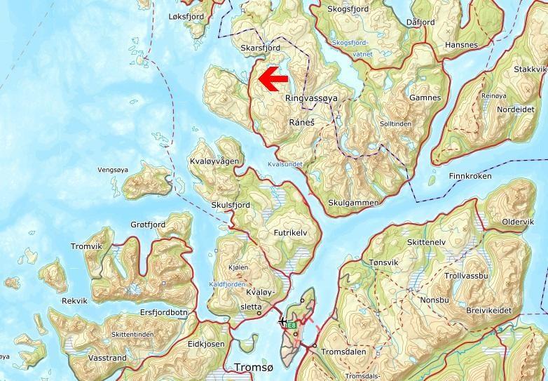 Kort avstand fra Tromsø. Ca. 50 minutter kjøretid fra Tromsø sentrum.