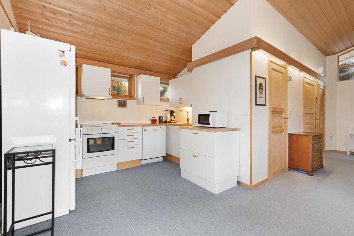 Kjøkken i forbindelse med stue