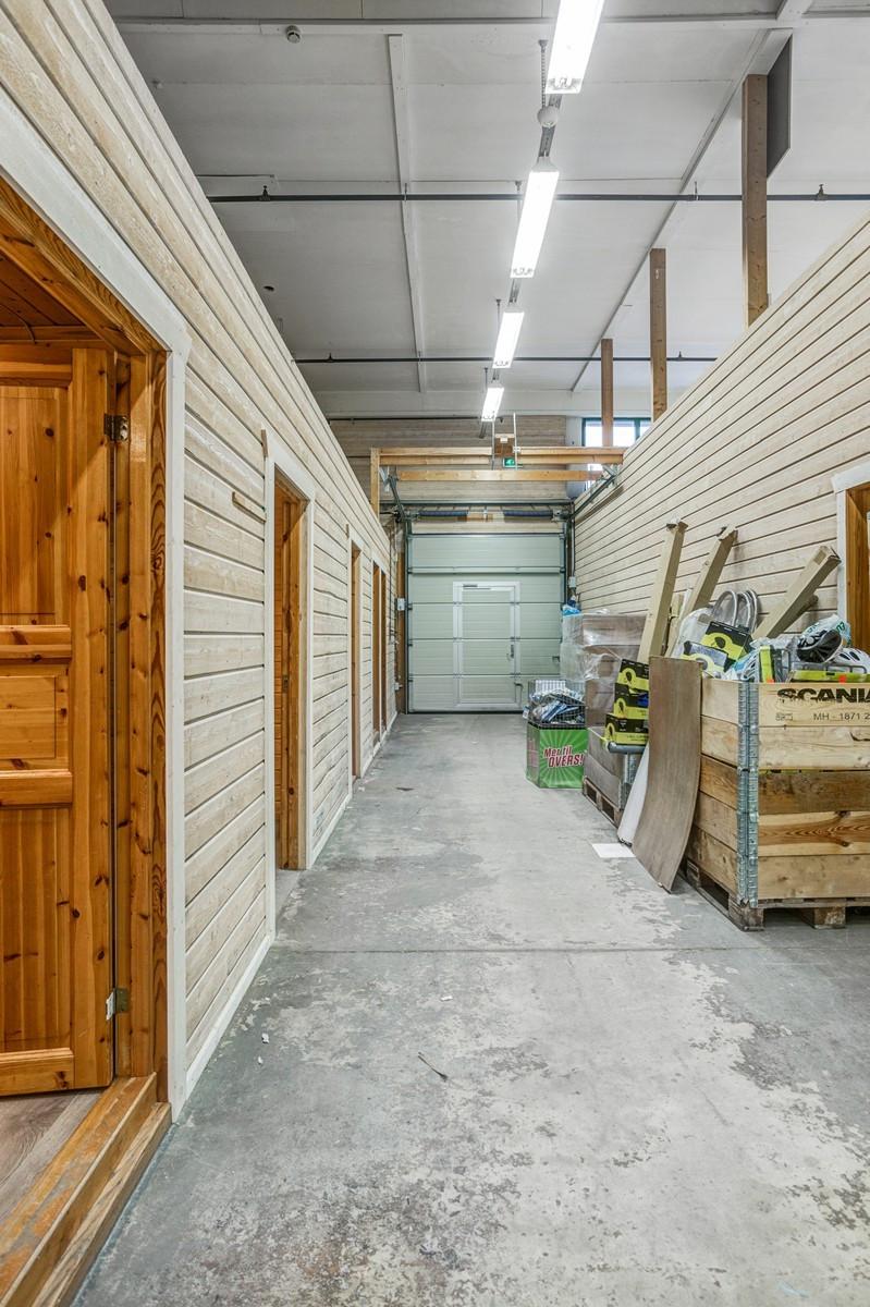 Inndelt i flere mindre rom