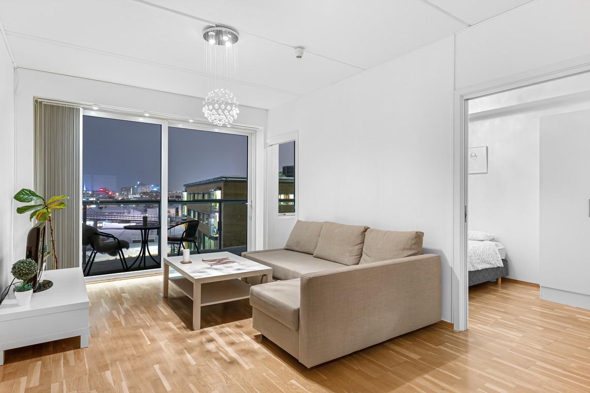 En koselig 2-roms leilighet med praktisk planløsning og balkong