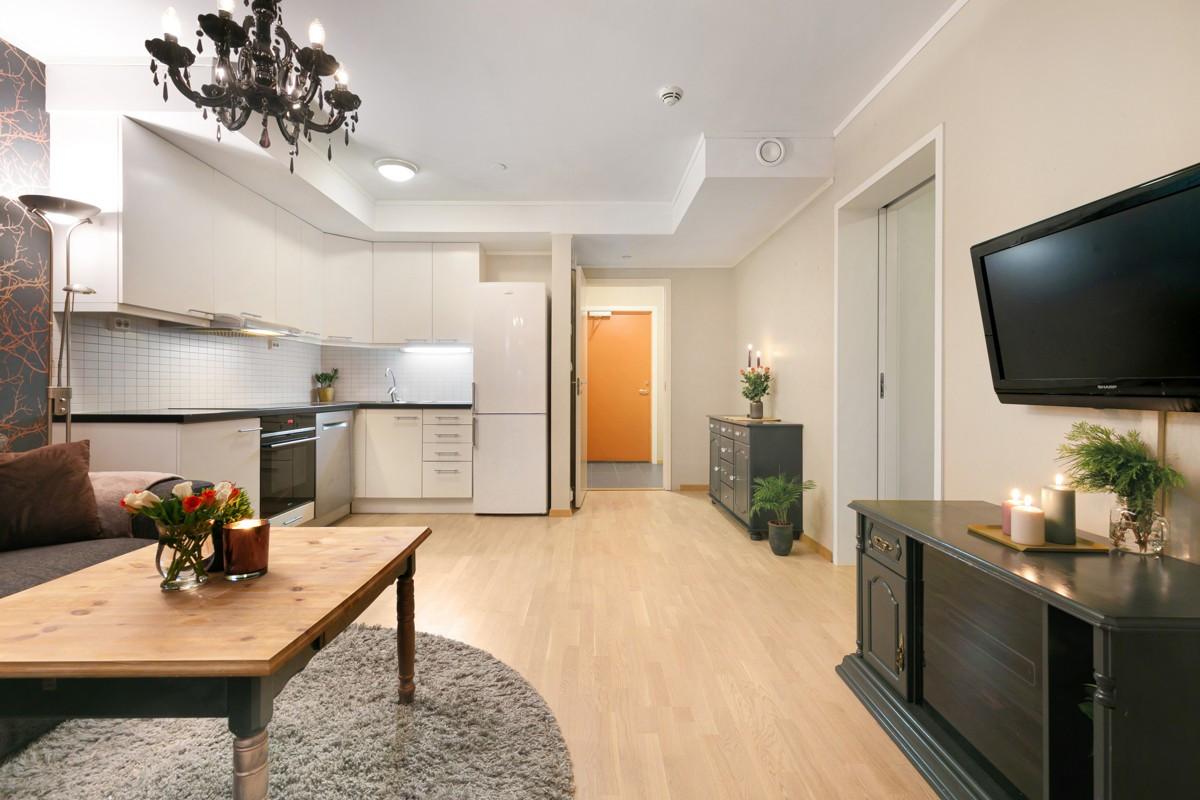 Arealeffektiv stue/kjøkken