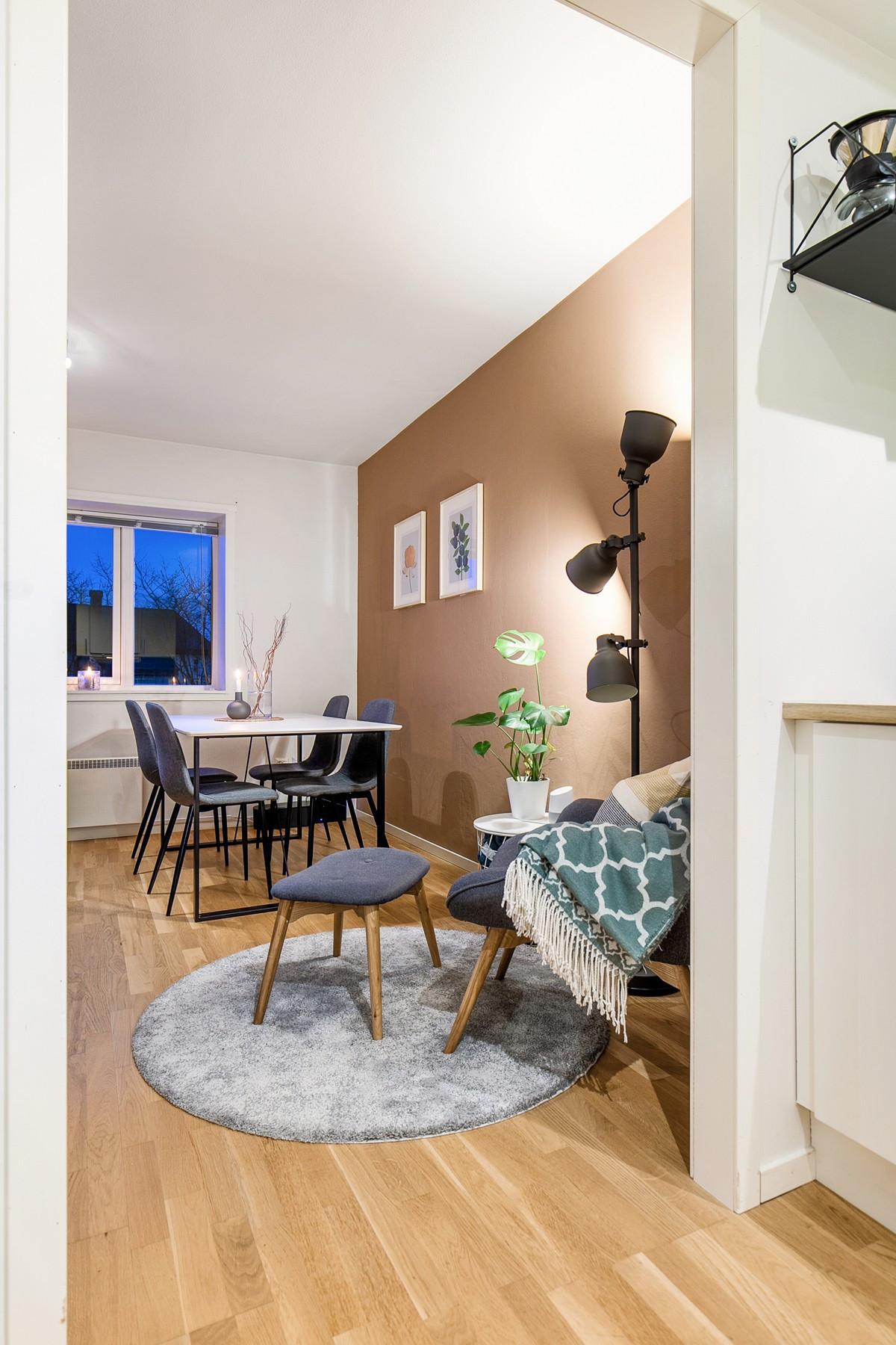 Adskilt stue og kjøkken