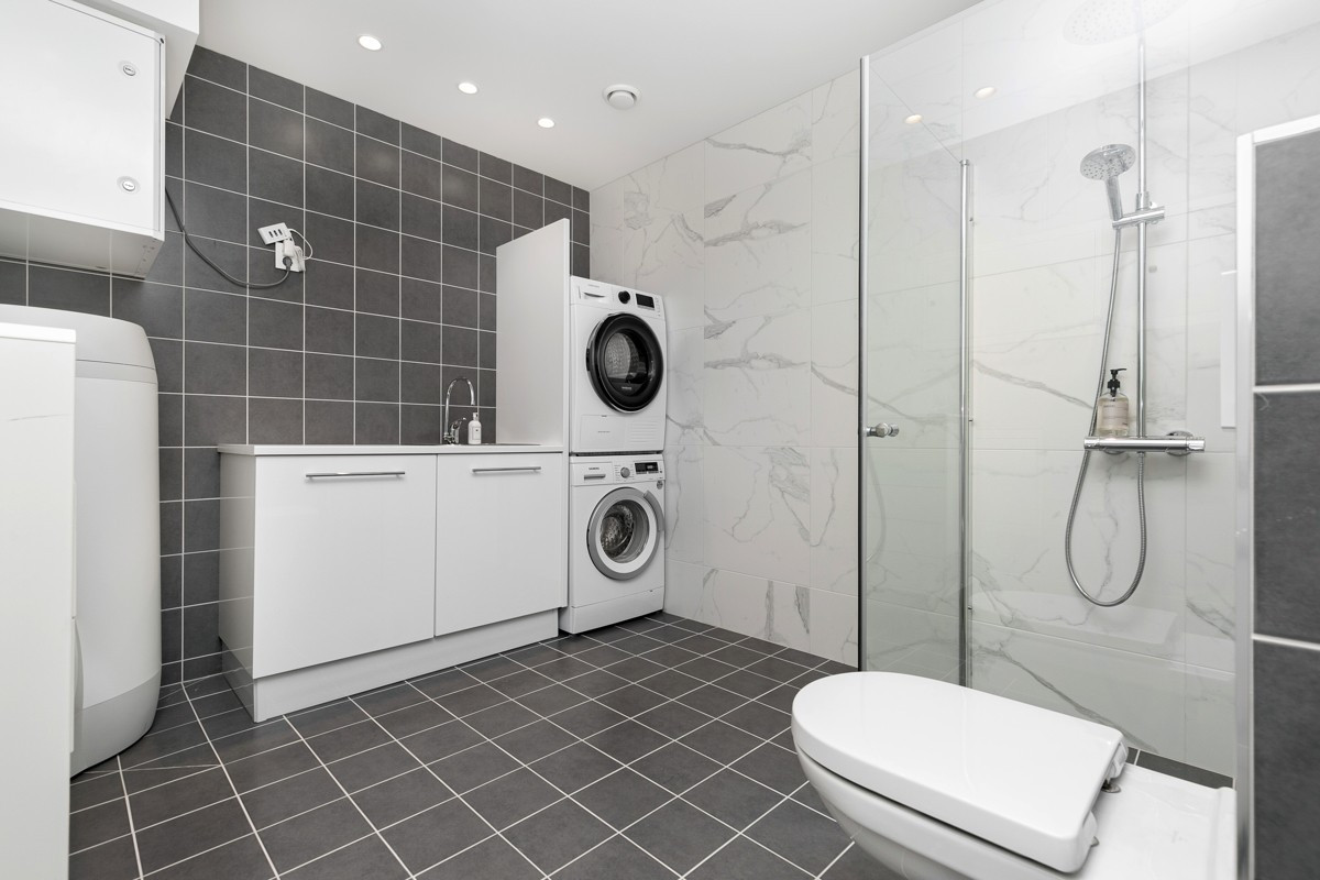 Bad nr. 2 med rom for vask/tørk
