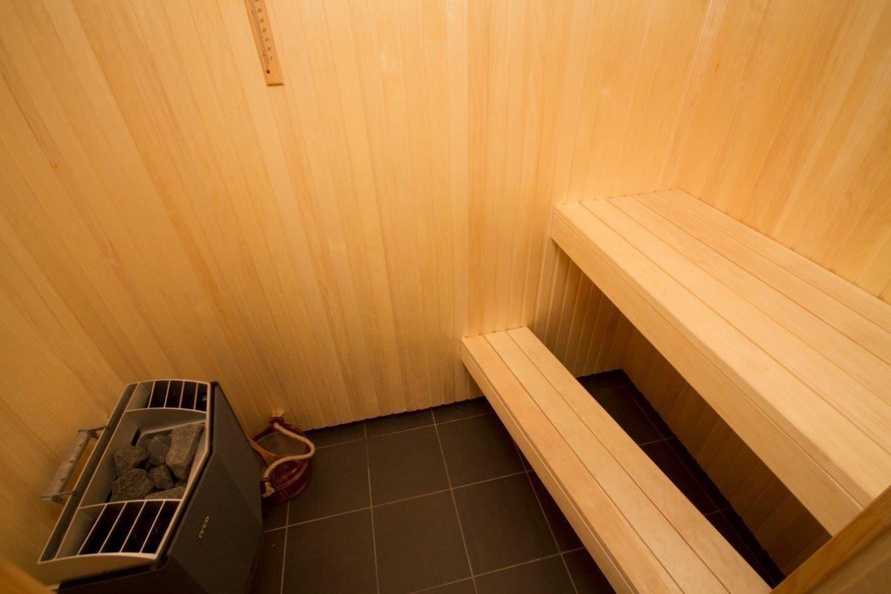 Sauna kan bestilles som tilvalg
