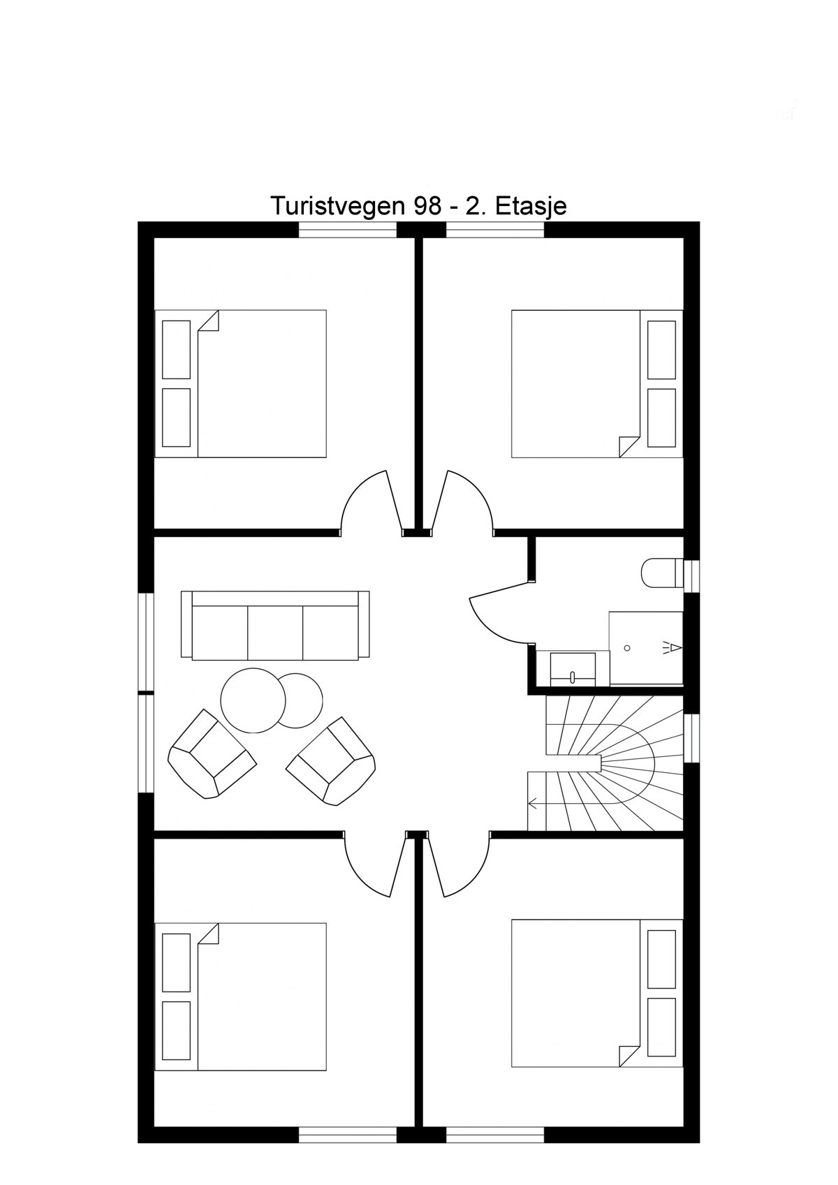 Planskisse 2. etasje