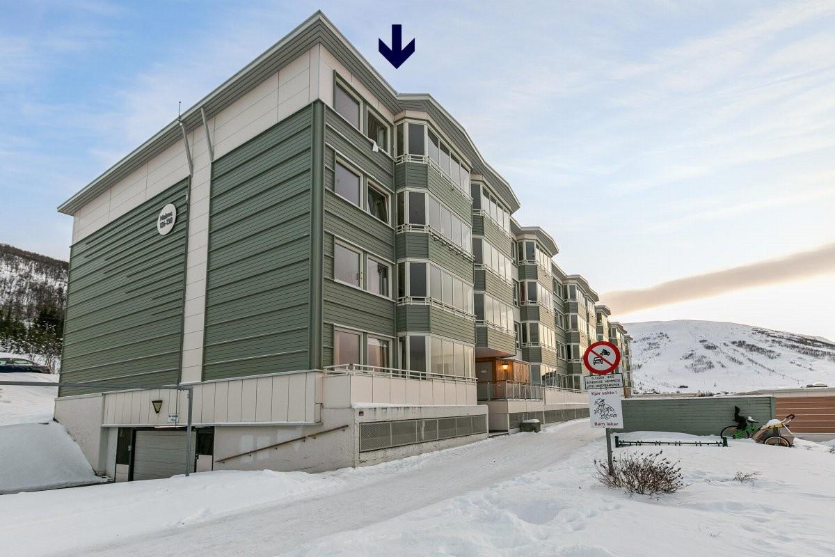Leiligheten ligger i 4. etasje med en flott utsikt!