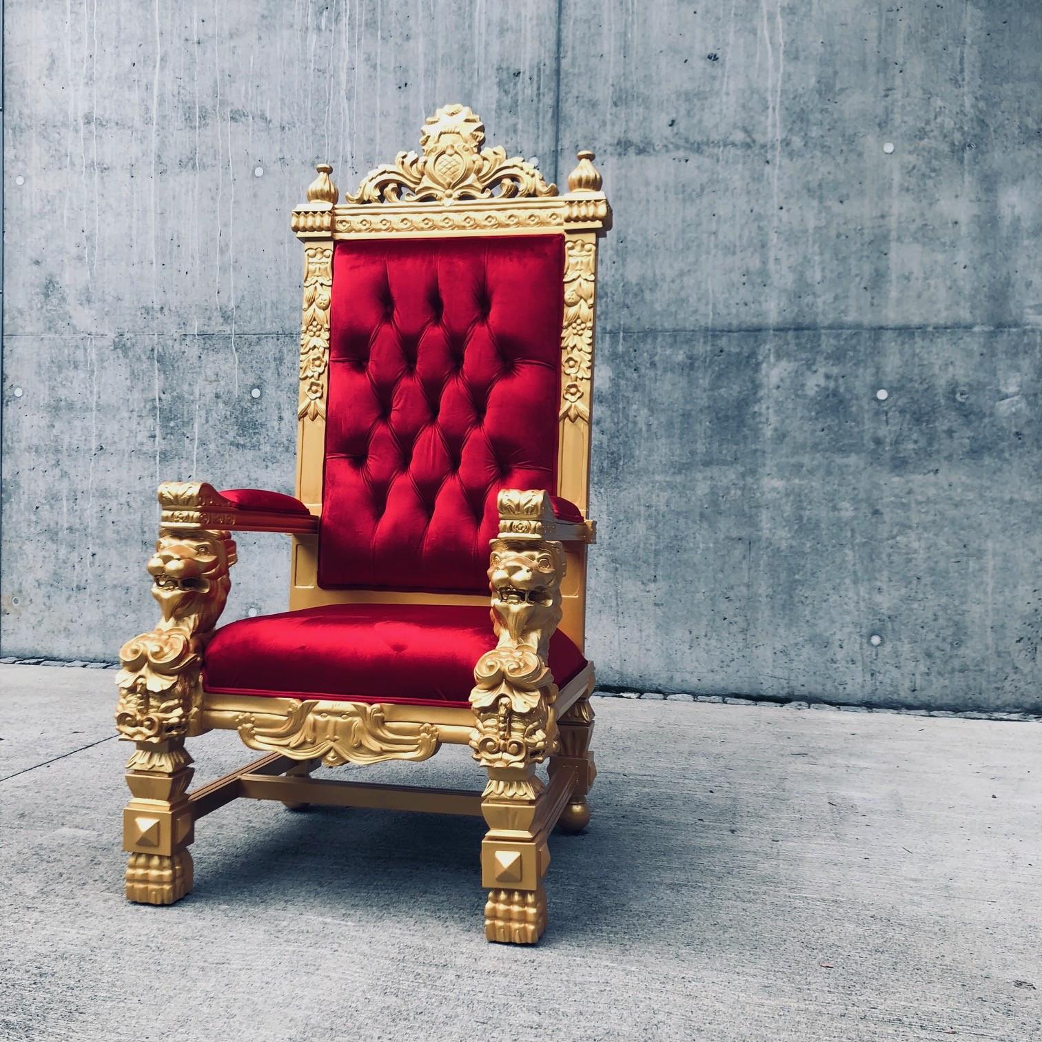 Trone Gul Kongestol Lenestol Oslo Carl Royal