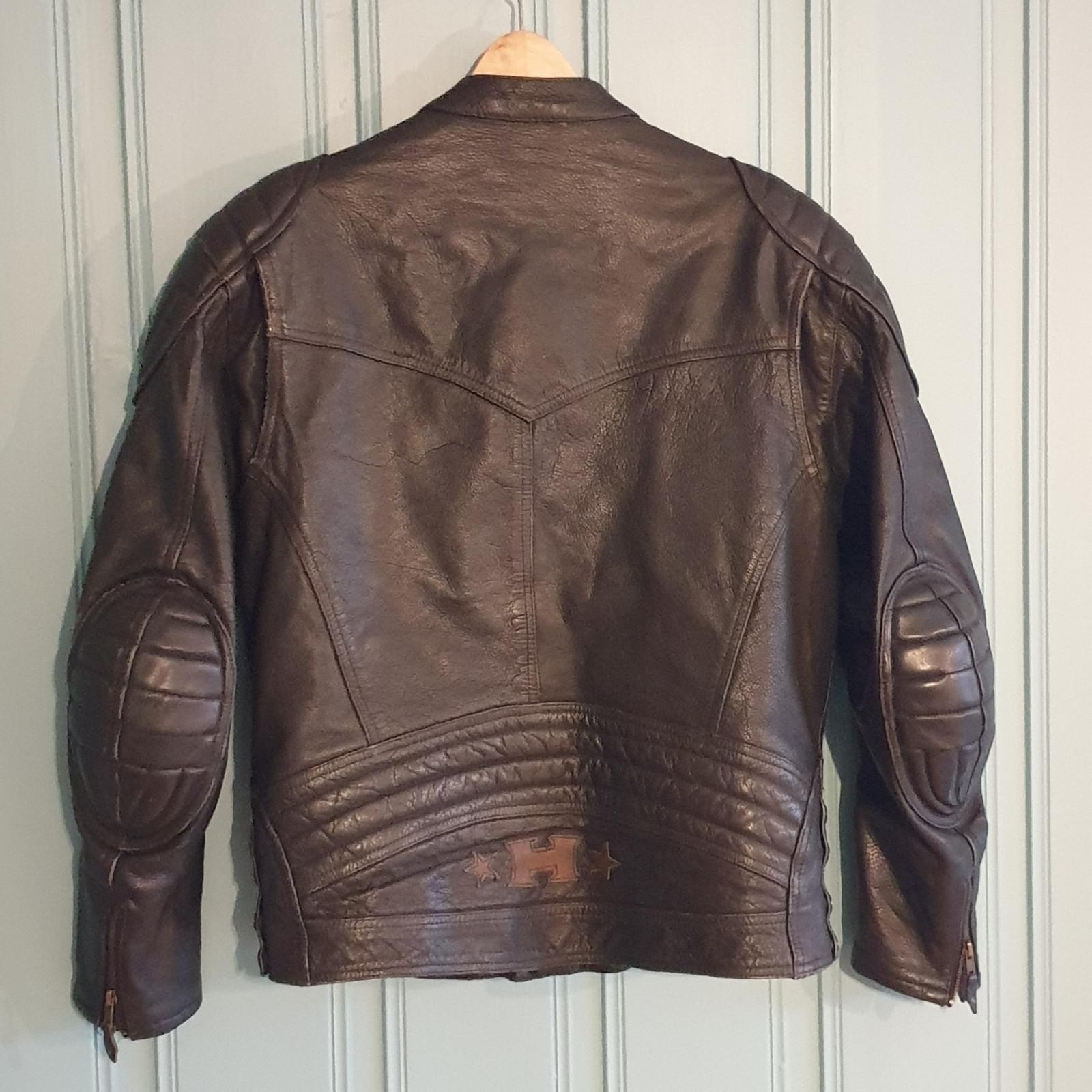 Mc jakke i skinn med beskyttelse ce godkj | FINN.no