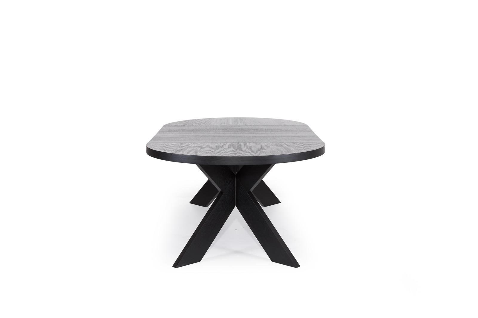 Somerset Uttrekkbart Spisebord ø120320 Sort