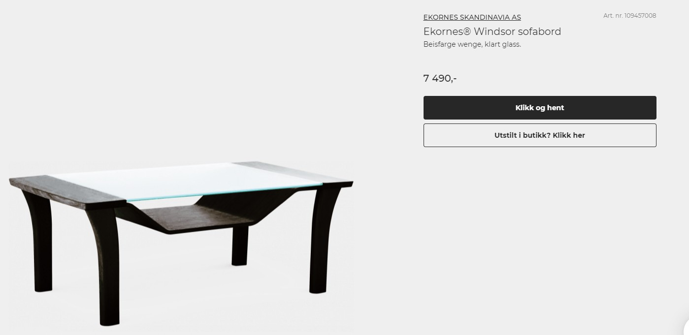 Ekornes® Windsor sofabord