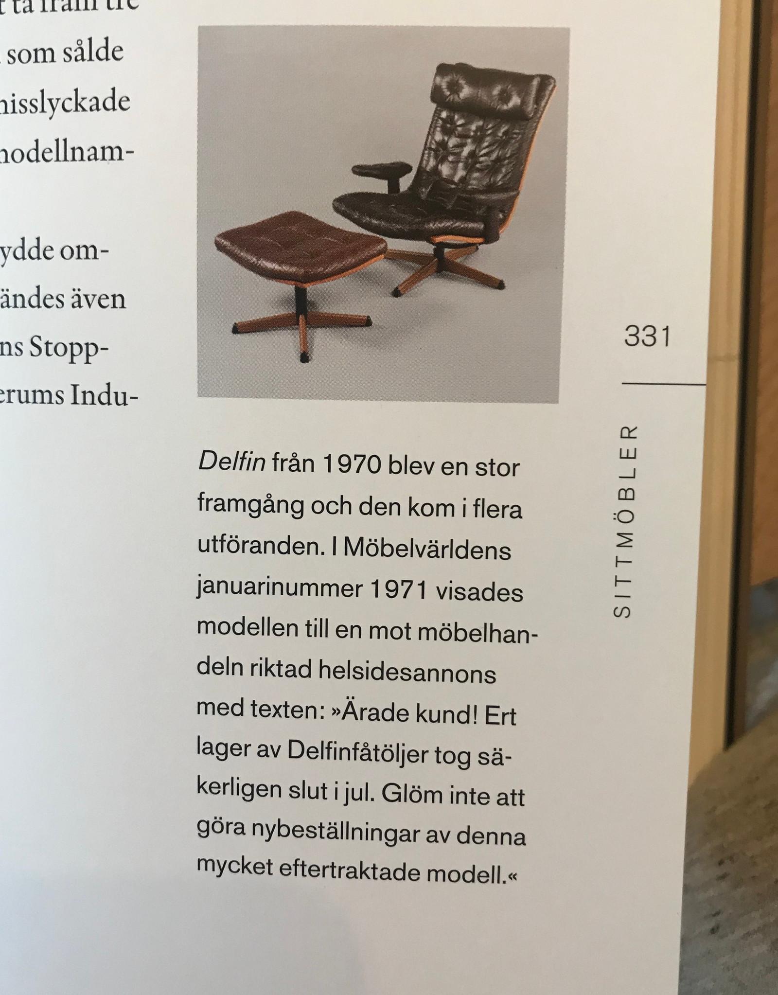 Lenestol i skinn, svensk design Göte Möbler   FINN.no