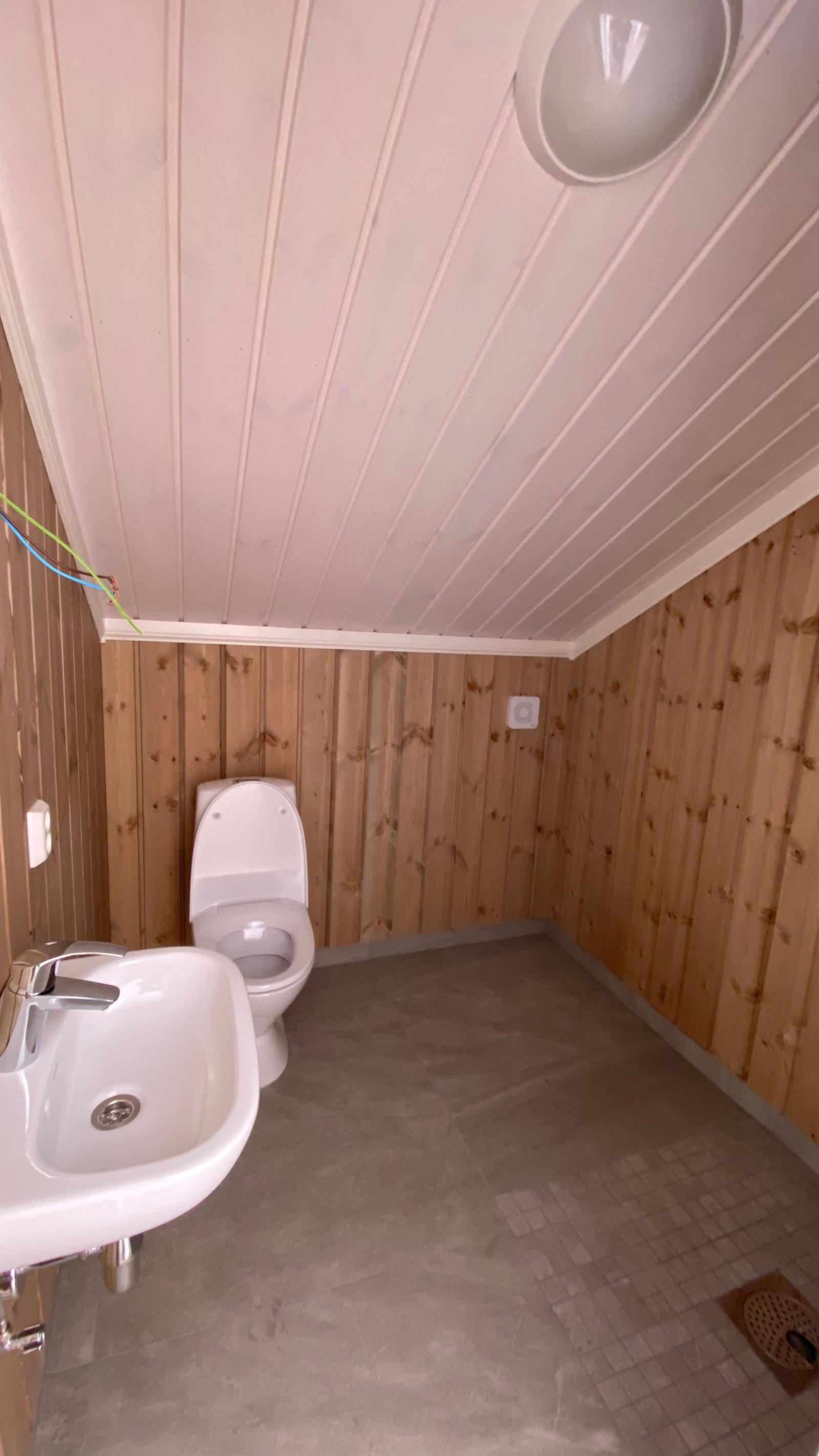 WC i andre etasje. Kan leveres med dusj også.